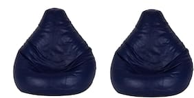 SHIRA 24 Teardrop Bean Bag Cover Only (Pack of- 2 Pcs) Navy_Blue Large