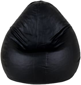 SHIRA 24 Teardrop Bean Bag Cover With Beans 1kg Black L