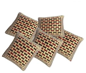 Shiv Kirpa Chenille Cushion Cover Pack Of 5
