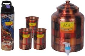 Shiv Shakti Arts 5 l Copper Water Container