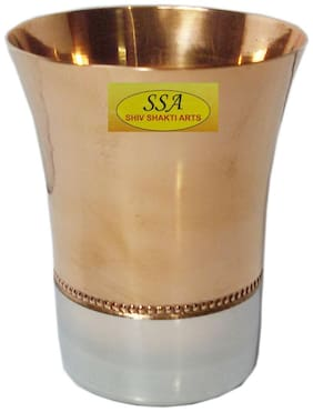 Shiv Shakti Arts Handmade Pure Steel Copper Glass For Wine and Beer Purpose For and Homeware (1)
