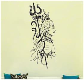Shiva Wall Sticker (PVC Vinyl,Size -30 x 69 cm)