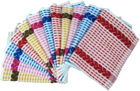 Shop By Room Multicolor Quick Dry Soft Cotton Face Towel/Napkin - Set of 12