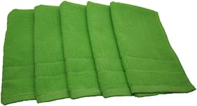 Shop By Room Quick Dry Face/Hand Towel- Set Of 5- Light Green