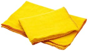 """Shop By Room Super Soft Flannel Yellow Duster - Set of 5 (Size: 22""""x26"""")"""