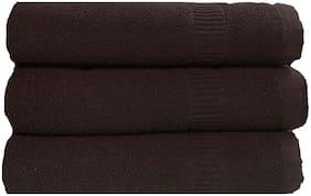 SHOP BY ROOM 300 GSM Cotton Bath towel ( 3 pieces , Brown )