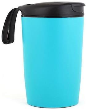 ShopAIS Suction Travel Mug Spill Free Mug Coffee Tumbler Leak Proof Insulated Never Fall Over Cup - Green