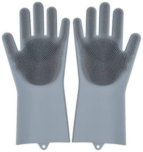 Shopeleven Household Safety Wash Scrubber Gloves