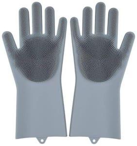 Shopeleven Household Safety Wash Scrubber Gloves