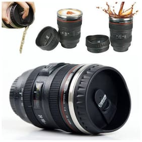 Shopeleven New Coffee Lens Emulation Camera Mug Cup Beer Cups Creative Gift with Handle Travel Thermal Coffee Mugs 300mL