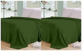 Shopgalore Combo Of Single Bed Plain AC Blanket - Set Of 2