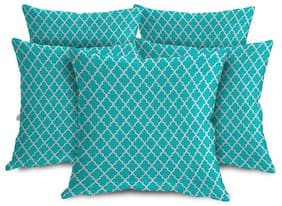ShopMantra Cross Pattern Printed Cushion Cover Set of 5 (40.64 cm (16 Inch) x 40.64 cm (16 Inch)) Multicolor Cushion Cover