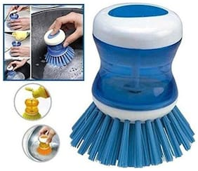 Shopo's 1 pc. Cleaning Brush with Liquid Soap Brush (Assorted Colors)