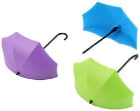 Shopo's 3 PCS SET Umbrella Drop Style Clothes KEY HAT Wall Hanger Hooks