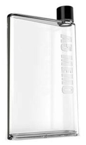 Shopo's 420 ml Transparent Reusable Slim A5 Size Notebook Water Bottle