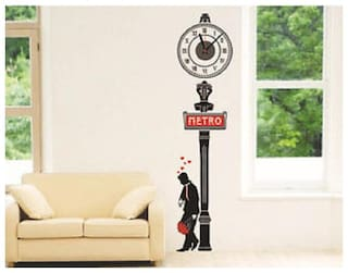 Shopper52 DIY Wall Clock 3D Sticker Home Office Decor 3D Wall Clock (Covering Area:55*50cm) - DIYCD872
