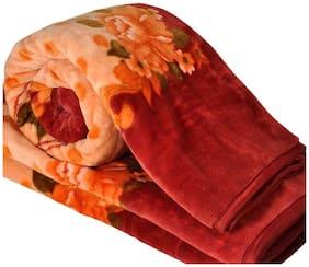 Shopping StoreWinter Soft Single Bed Mink Floral Blanket Reveresible Blanket