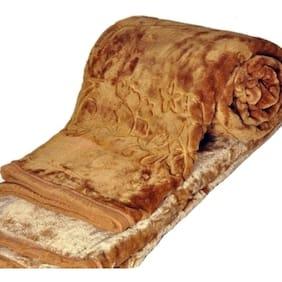 Shoppingstore Winter Soft Double Bed Mink Floral Blanket Reveresible Blanket ( Size 220 x 230cm) Free Blanket Bag