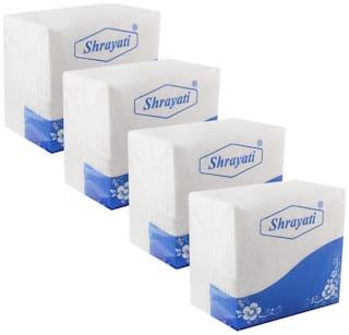 Shrayati Premium Paper Napkins : 2 Ply : Pack of 4