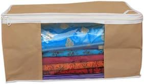 Shree Jee Beige Saree Storage Bag(Pack Of 1)