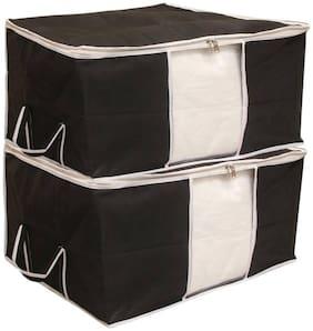 Shree Jee Black Blanket Stroage Bag(Pack Of 2)