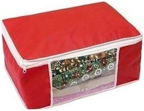 Shree Jee  Red  Saree Storage Bag(Pack Of 1)