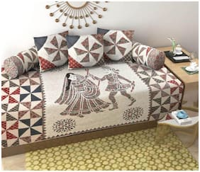 Shree Jee Cotton Printed Fitted Size Diwan Sets - Pack of 6