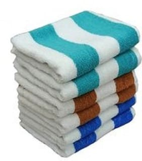 Shree Jee 250 GSM Cotton Hand towel ( 6 pieces , Multi )