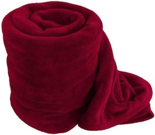 Shree Jee Premium Quality Double Bed Fleece Blanket (Pack of 1))