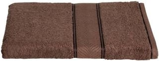 Shree Jee 380 GSM Cotton Bath towel ( 1 piece , Brown )