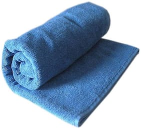 Shree Jee 400 GSM Cotton Bath towel ( 1 piece , Blue )