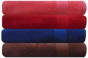 Shree Jee Pure Cotton Premium Bath Towel(Pack of 4)