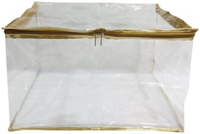 Shree Shyam Products Gold Transparent 12 inch Box Saree Cover 1 Pcs Set