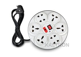 Kaltron 8+1 Round Extension Board, 6 AMP Multi Plug  Point Extension Cord (2 Meter) - Assorted color