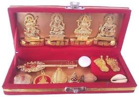 Shri Dhan Laxmi-Kuber Bhandari Yantra - Pack Of 13 free Rudraksh Mala