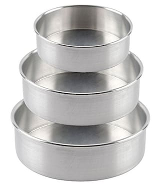 Shrines Aluminium Silver Baking dishes & pans ( Set of 3 )