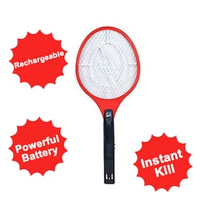 Shrines Mosquito Racket Rechargeable Mosquito Repellent Killer With Led Assorted Colour And Design