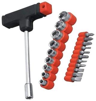 Shrines Multi purpose 21 pcs Screwdriver Socket Set & Bit Tool Kit Set Jackly Tool kit For Home;Office;Car;Bike