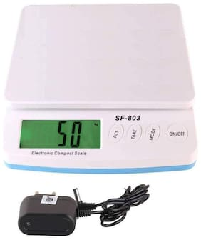 Shrines SF-803 Kitchen Weight Scale, 1 gm to 30 KG Weight Range with Adopter
