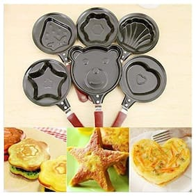 Shrines Stainless Steel Lovely Cartoon Shape Mini Non-Stick Egg Frying Pan(Design May Vary)