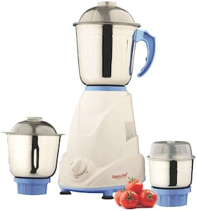 Signora Care ECO PLUS 500 W Mixer Grinder ( White & Blue , 3 Jars )