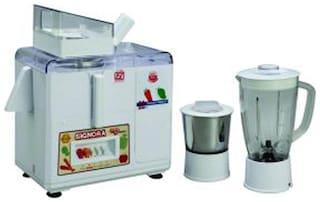 Signora Care SJG-3100 450 W Mixer Grinder ( White , 2 Jars )