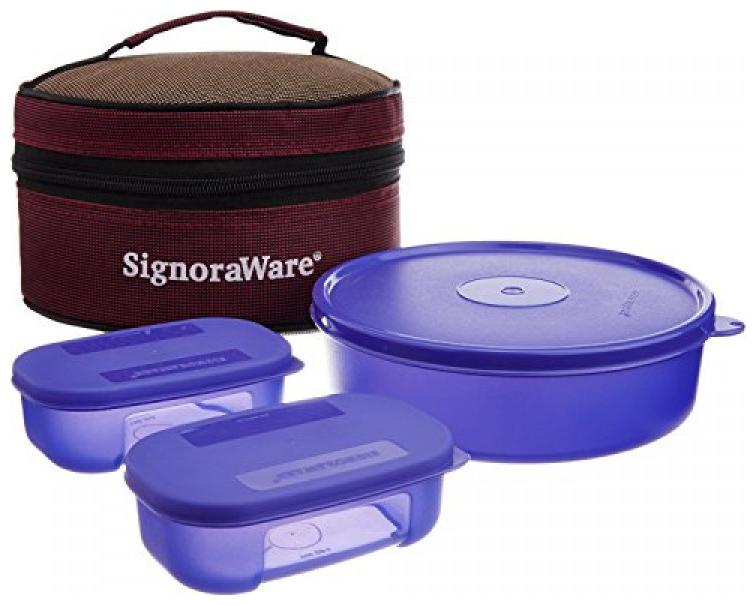 Signoraware 1 Containers Plastic Lunch Box   Violet