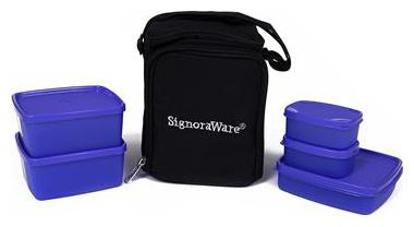 Signoraware Violet Lunch box   Set of 1 , 500 ml   500 ml   by Autumnfare