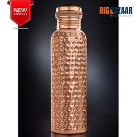 Signoraware Copper Bottle, 900ml With Hammer Finish