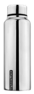 Signoraware Aqua Stainless Steel Water Bottle;750ml/30mm;Mirror Silver (SIG_3404)