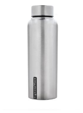 Signoraware Aqua Stainless Steel Water Bottle;500ml/30mm;Matte Silver
