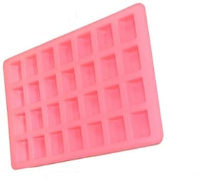 Silicomolds Small Ice-Cube Shaped Silicone Soap Mold - 35 Gms Soap Mold