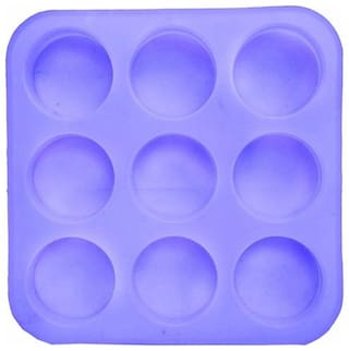 SILICOMOLDS Round Silicone Soap Mold - 125 gms