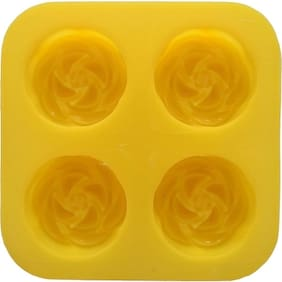 SILICOMOLDS - BLOOMING ROSE - 70GMS - 4CAVITIES - SILICONE SOAP MOLD